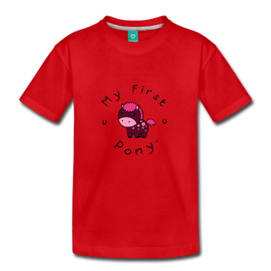 Toddler My First Pony T-Shirt (magenta) - red