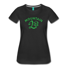 Load image into Gallery viewer, Women's Mountain Life (script) T-Shirt - black