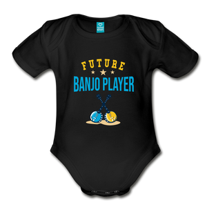 Future Banjo Player Baby Bodysuit - black