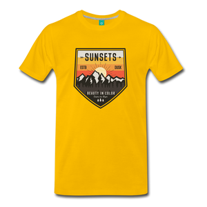 Men's Sunset T-Shirt - sun yellow