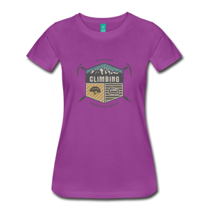 Women's Climbing T-Shirt - light purple