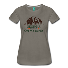 Load image into Gallery viewer, Women's Georgia on my Mind T-Shirt - asphalt