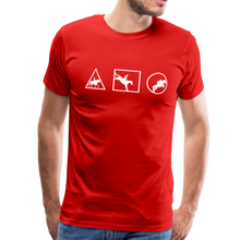 Load image into Gallery viewer, Men's Horse Symbols (solid) T-Shirt - red
