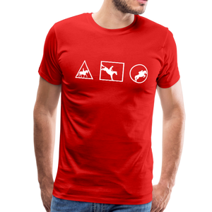 Men's Horse Symbols (solid) T-Shirt - red