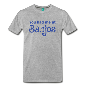 Men's You Had me at Banjos T-Shirt - heather gray