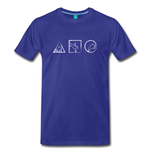 Men's Horse Symbols T-Shirt - royal blue
