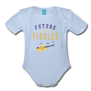 Future Fiddler Baby Bodysuit - sky