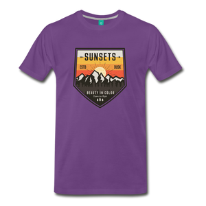 Men's Sunset T-Shirt - purple
