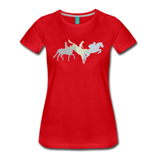 Load image into Gallery viewer, Women's Shadowed Eventing T-Shirt - red