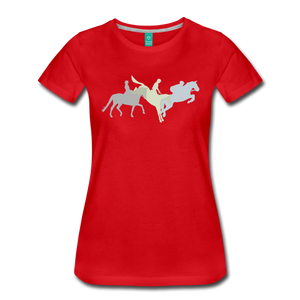 Women's Shadowed Eventing T-Shirt - red
