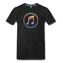 Load image into Gallery viewer, Men's Colored Music Note T-Shirt - black