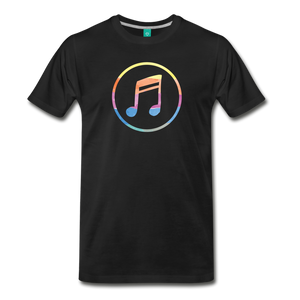 Men's Colored Music Note T-Shirt - black