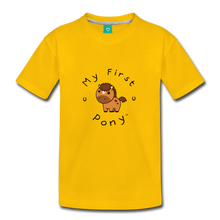 Load image into Gallery viewer, Toddler My First Pony T-Shirt (light brown) - sun yellow