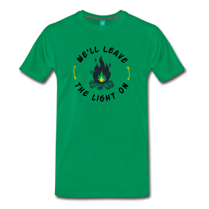 Men's We'll Leave the Light On T-Shirt - kelly green
