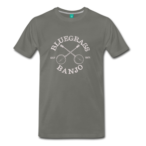 Men's Bluegrass Banjo T-Shirt - asphalt