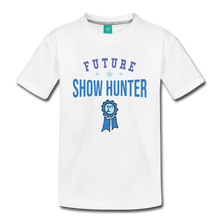 Load image into Gallery viewer, Kids' Future Show Hunter T-Shirt - white