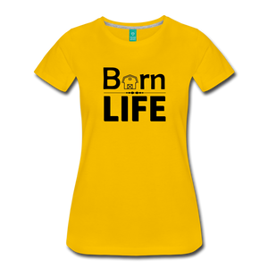 Women's Barn Life T-Shirt - sun yellow