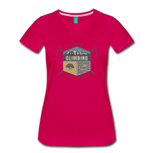 Load image into Gallery viewer, Women's Climbing T-Shirt - dark pink
