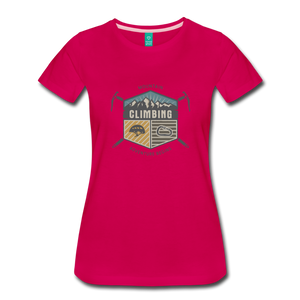 Women's Climbing T-Shirt - dark pink