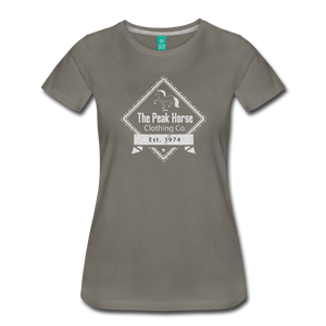 Women's The Peak Horse Diamond T-Shirt - asphalt