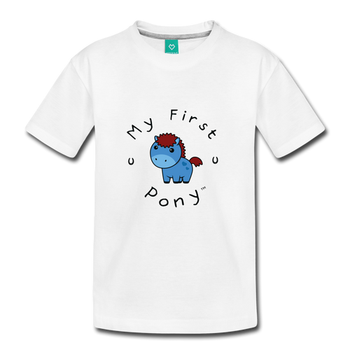 Kids' My First Pony T-Shirt (blue) - white