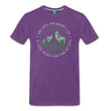Load image into Gallery viewer, Men's Into the Woods I Go T-Shirt - purple