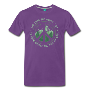 Men's Into the Woods I Go T-Shirt - purple
