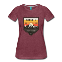 Load image into Gallery viewer, Women's Sunset T-Shirt - heather burgundy