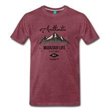 Load image into Gallery viewer, Men's Dark Authentic Mountain Life Clothing Co. T-Shirt - heather burgundy