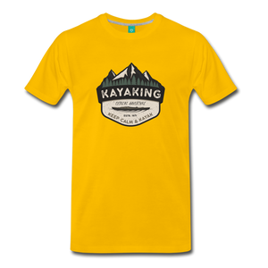 Men's Kayaking T-Shirt - sun yellow