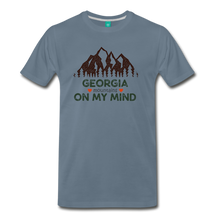 Load image into Gallery viewer, Men's Georgia on my Mind T-Shirt - steel blue