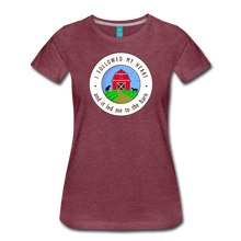 Load image into Gallery viewer, Women's Followed my Heart (colored) T-Shirt - heather burgundy