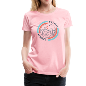 Women's Happier Camper T-Shirt - pink