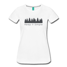 Load image into Gallery viewer, Women's Keep It Simple T-Shirt - white