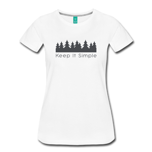Women's Keep It Simple T-Shirt - white