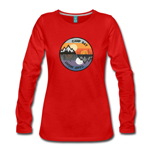 Women's Camp Day Long Sleeve Shirt - red