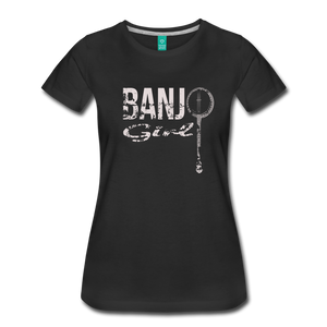 Women's Banjo Girl T-Shirt - black
