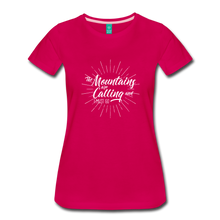 Load image into Gallery viewer, Women's Mountain Calling T-Shirt (white) - dark pink