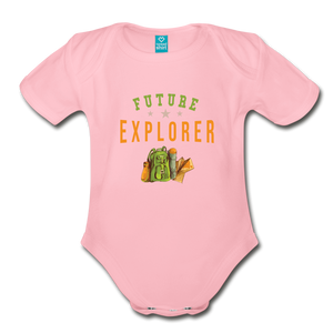 Future Explorer Baby Bodysuit - light pink