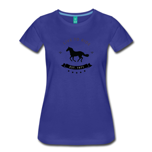Women's Live to Ride T-Shirt - royal blue
