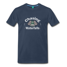Load image into Gallery viewer, Men's Chasing Waterfalls T-Shirt - navy