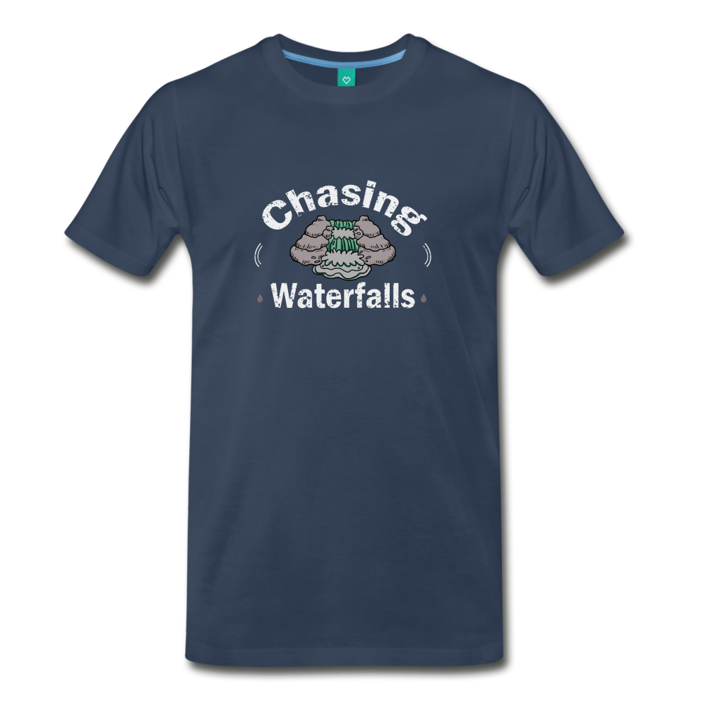 Men's Chasing Waterfalls T-Shirt - navy