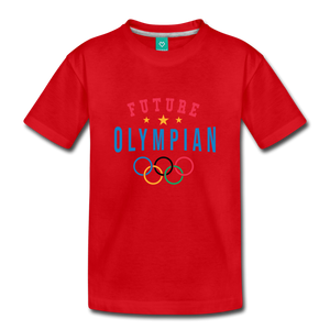 Toddler Future Olympian T-Shirt - red