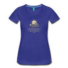 Load image into Gallery viewer, Women's Mountain Life Clothing Co T-Shirt - royal blue