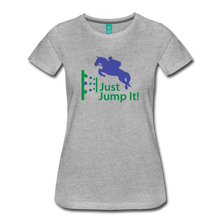 Load image into Gallery viewer, Women's Just Jump It T-Shirt - heather gray