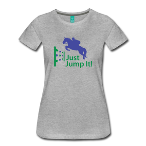 Women's Just Jump It T-Shirt - heather gray