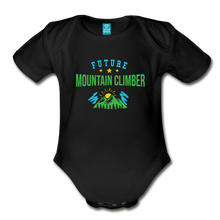 Load image into Gallery viewer, Future Mountain Climber Baby Bodysuit - black