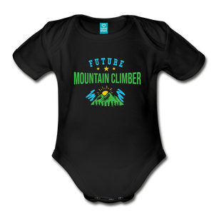 Future Mountain Climber Baby Bodysuit - black
