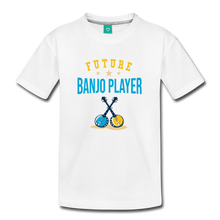 Load image into Gallery viewer, Kids' Future Banjo Player T-Shirt - white