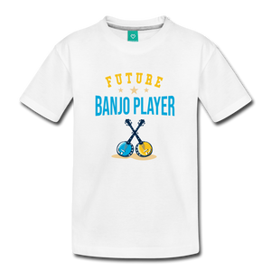 Kids' Future Banjo Player T-Shirt - white